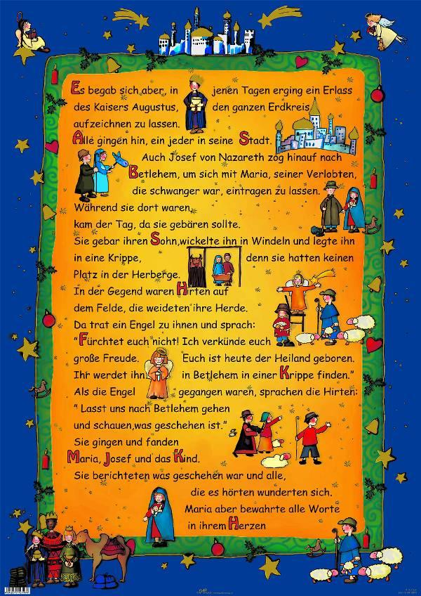 Weihnachtsgeschichte Kinder Poster - BenDie GbR